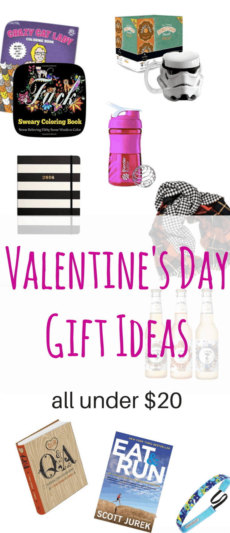 These Valentine's Gift Ideas are perfect for him and her and are all under twenty dollars. Plus, they're perfect for Galentine's Day and all your friends and family.