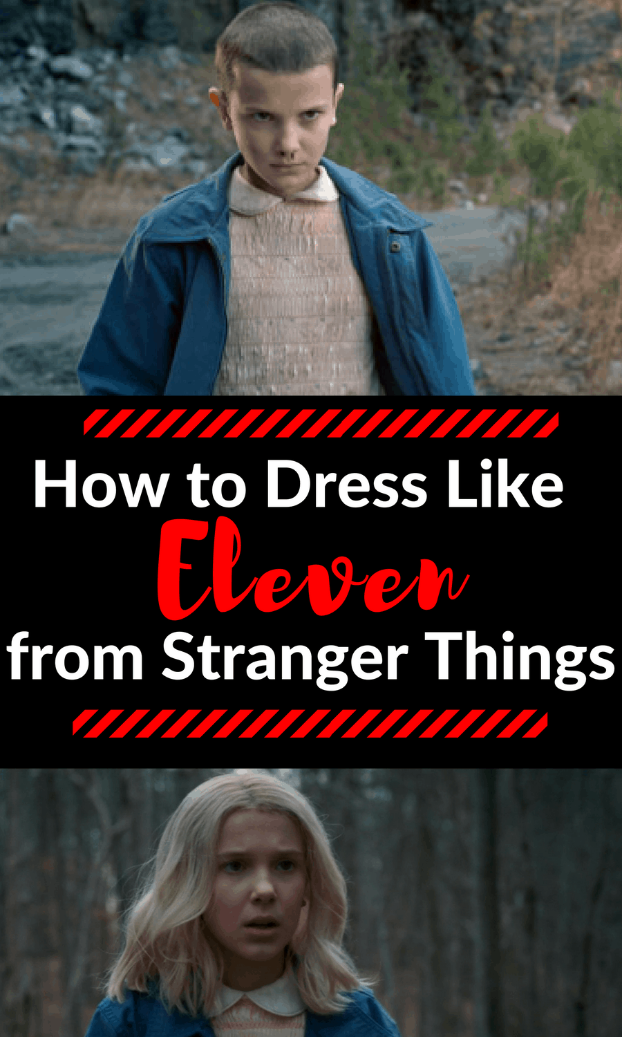 Here's how you can dress like Eleven from Stranger Things this Halloween. Keep reading for an inexpensive, easy how-to for an awesome Stranger Things inspired costume.