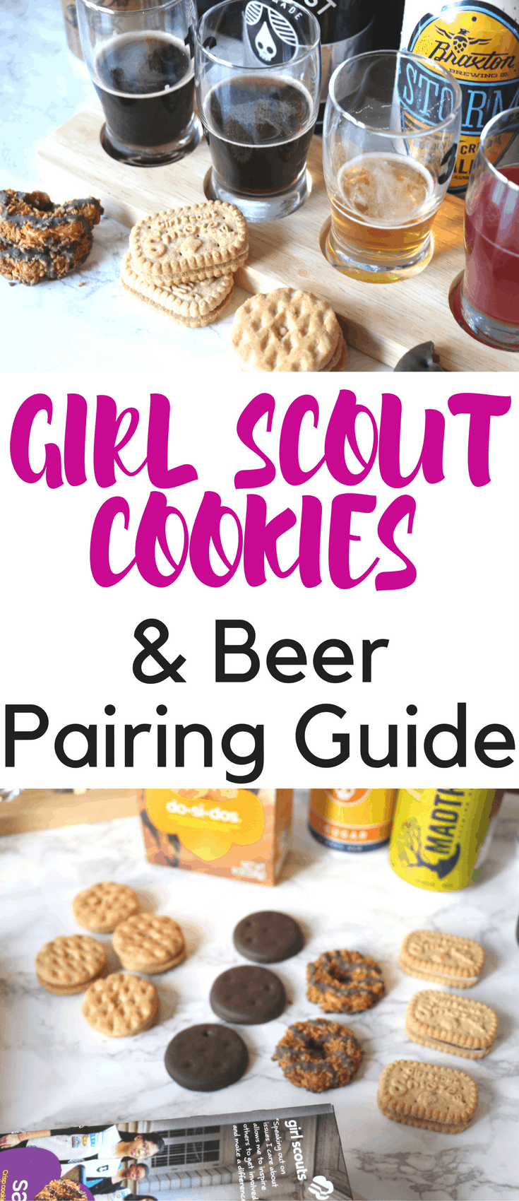 Girl Scout Cookies and beer pairings are here. I'll show you how to pair Girl Scout Cookies with craft beer from Cincinnati breweries, plus other options.