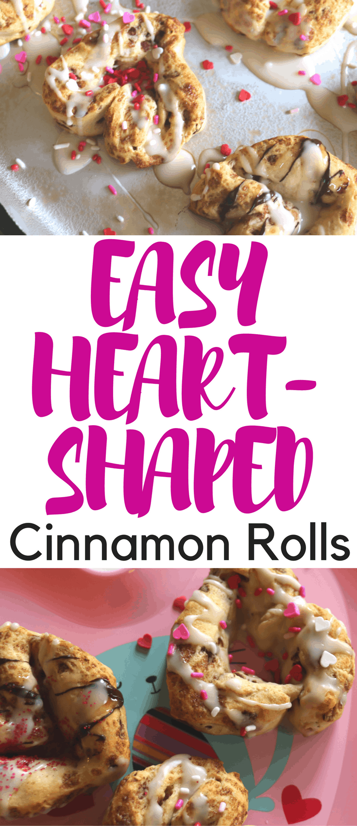 These heart-shaped cinnamon rolls are so easy. They come together in under 30 minutes with just two ingredients and make a great Valentine's Day treat.