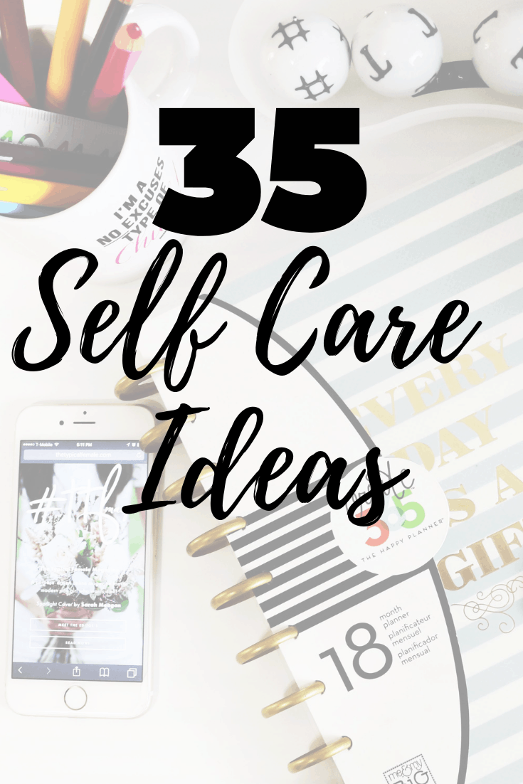 These self care ideas will help when you're feeling stressed and need a mental health break. These activities work for women, teens and anyone who needs a moment of self care and respite from stress.