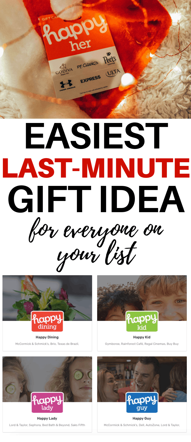 The Easiest Last Minute Gift Ideas for Christmas for Everyone on Your List | Gift Ideas for Teens, Him, Her