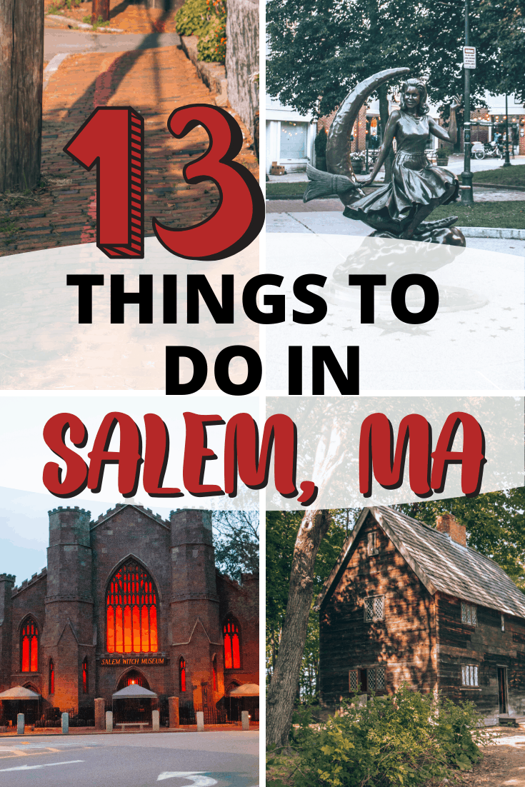 The ultimate Salem, Massachusetts travel guide with 13+ things to do in this spooky city! These are the best things to do, places to eat and where to stay in Salem, MA.